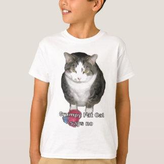 Grumpy Fat Cat says no T-Shirt