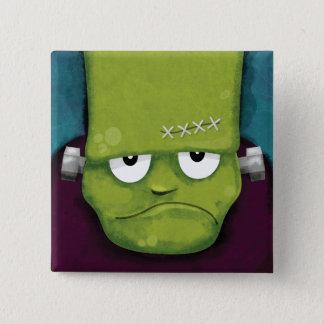 Grumpy Frankenstein | Halloween Novelty 15 Cm Square Badge