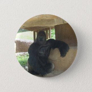 Grumpy Gorilla 6 Cm Round Badge
