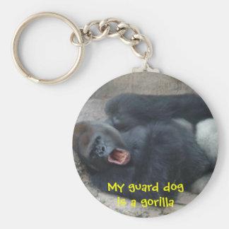 Grumpy Gorilla Key Ring