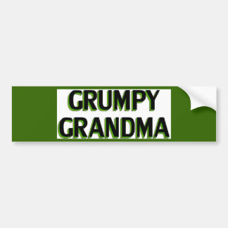 Grumpy Grandma Bumper Sticker