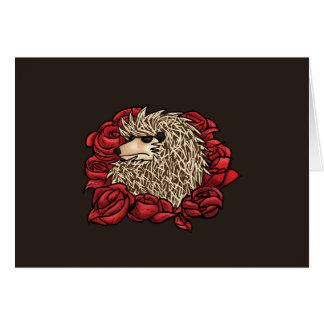 Grumpy Hedgehog Love Thank You Card