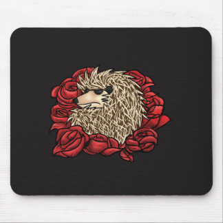 Grumpy Hedgehog Mouse Pad