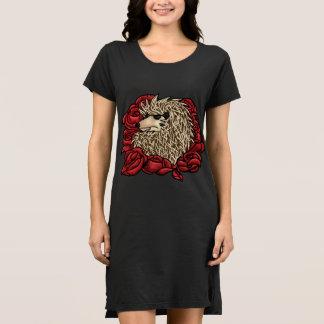 Grumpy Hedgehog T-Shirt Dress
