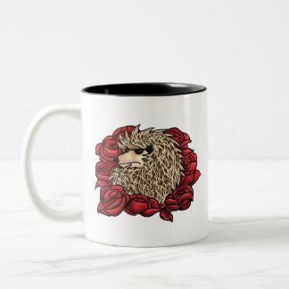 Grumpy Hedgehog Two-Toned Mug