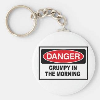 grumpy into the morning key ring