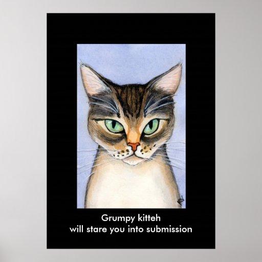 Grumpy kitteh print