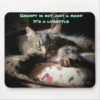 Grumpy  lifestyle Cat mouse pad