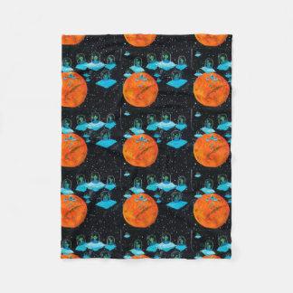 Grumpy Martians Fleece Blanket