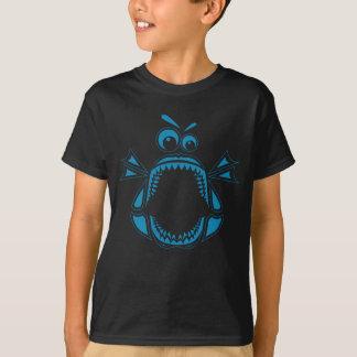 Grumpy Megalodon Kids' T-Shirt (Blue Print)