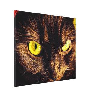 Grumpy Munchkin Cat Face Canvas Print