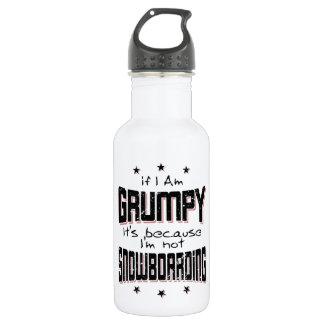 GRUMPY not SNOWBOARDING (blk) 532 Ml Water Bottle