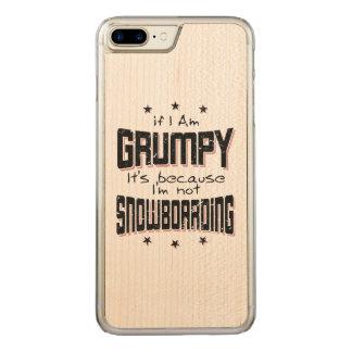 GRUMPY not SNOWBOARDING (blk) Carved iPhone 8 Plus/7 Plus Case