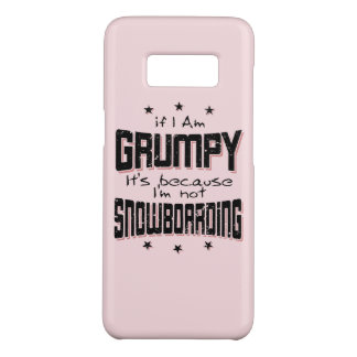 GRUMPY not SNOWBOARDING (blk) Case-Mate Samsung Galaxy S8 Case