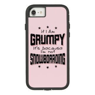GRUMPY not SNOWBOARDING (blk) Case-Mate Tough Extreme iPhone 8/7 Case