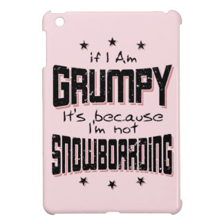 GRUMPY not SNOWBOARDING (blk) Cover For The iPad Mini
