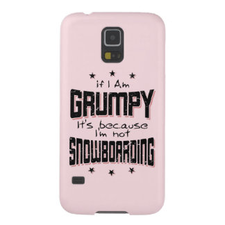 GRUMPY not SNOWBOARDING (blk) Galaxy S5 Cases