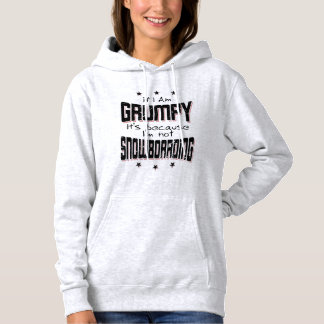 GRUMPY not SNOWBOARDING (blk) Hoodie