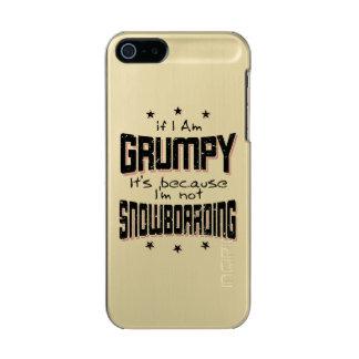 GRUMPY not SNOWBOARDING (blk) Incipio Feather® Shine iPhone 5 Case