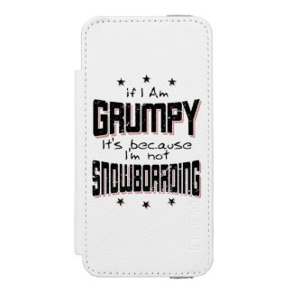GRUMPY not SNOWBOARDING (blk) Incipio Watson™ iPhone 5 Wallet Case