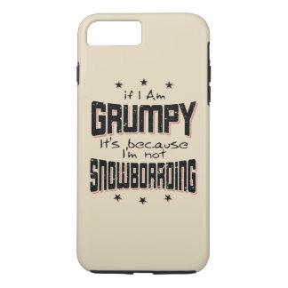 GRUMPY not SNOWBOARDING (blk) iPhone 8 Plus/7 Plus Case