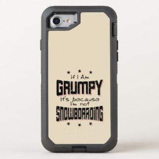 GRUMPY not SNOWBOARDING (blk) OtterBox Defender iPhone 8/7 Case