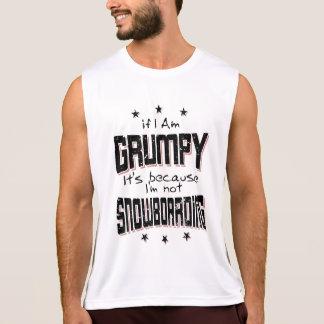 GRUMPY not SNOWBOARDING (blk) Singlet