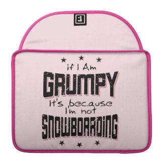 GRUMPY not SNOWBOARDING (blk) Sleeve For MacBooks