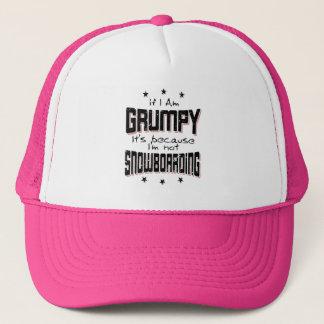 GRUMPY not SNOWBOARDING (blk) Trucker Hat