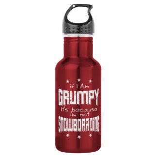 GRUMPY not SNOWBOARDING (wht) 532 Ml Water Bottle