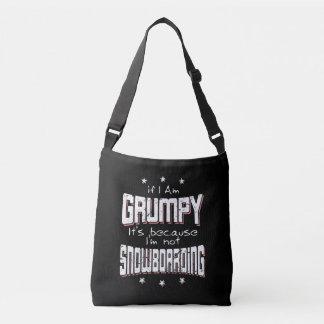 GRUMPY not SNOWBOARDING (wht) Crossbody Bag