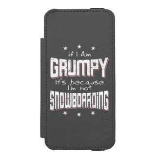 GRUMPY not SNOWBOARDING (wht) Incipio Watson™ iPhone 5 Wallet Case