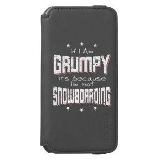 GRUMPY not SNOWBOARDING (wht) Incipio Watson™ iPhone 6 Wallet Case