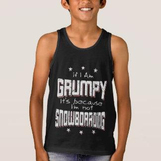 GRUMPY not SNOWBOARDING (wht) Singlet