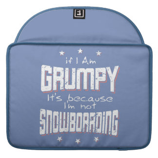 GRUMPY not SNOWBOARDING (wht) Sleeve For MacBook Pro