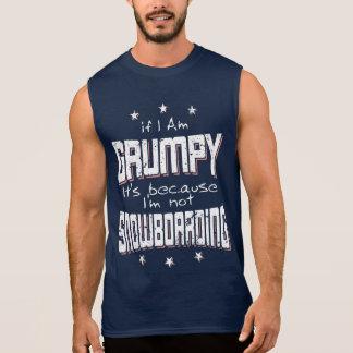 GRUMPY not SNOWBOARDING (wht) Sleeveless Shirt