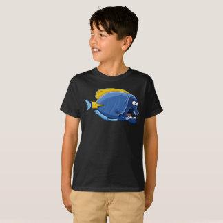 Grumpy Old Blue Yellow Fish Funny Kids T-Shirt