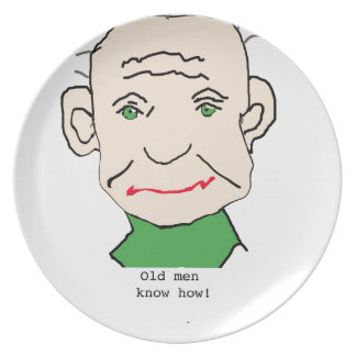 Grumpy Old Man Plate