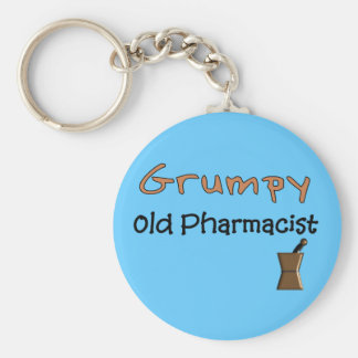Grumpy Old Pharmacist T-Shirts and Gifts Key Ring