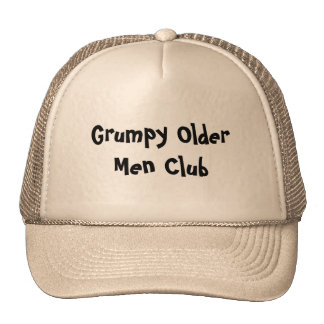 Grumpy Older Men Club Hats Caps Sports Team
