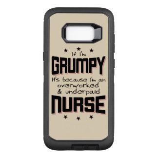GRUMPY overworked underpaid NURSE (blk) OtterBox Defender Samsung Galaxy S8+ Case