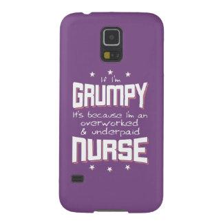 GRUMPY overworked underpaid NURSE (wht) Galaxy S5 Case