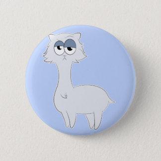 Grumpy Persian Cat Llama 6 Cm Round Badge