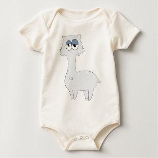 Grumpy Persian Cat Llama Baby Bodysuit