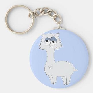 Grumpy Persian Cat Llama Key Ring