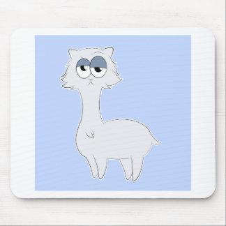 Grumpy Persian Cat Llama Mouse Pad