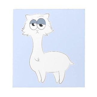 Grumpy Persian Cat Llama Notepad