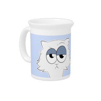 Grumpy Persian Cat Llama Pitcher