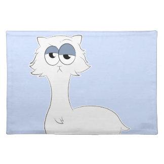 Grumpy Persian Cat Llama Placemat