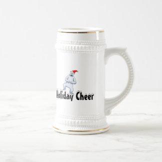 Grumpy Polar Bear Holiday Cheer Stein